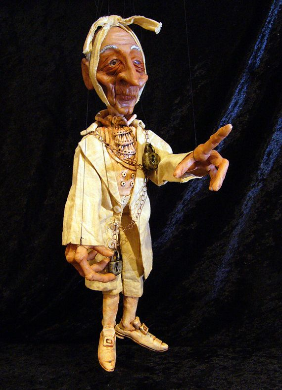 Jacob Marleys Ghost Marionette by ofMiceandMarionettes on Etsy