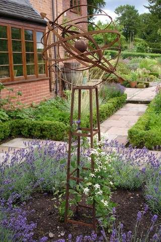 CC Rustics - Jake Challenger Ornamental Iron Plant Supports from THE SCULPTURE WEBSITE