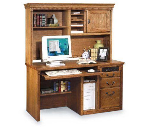 Martin Furniture Wheat Oak Deluxe Desk With Hutch By
