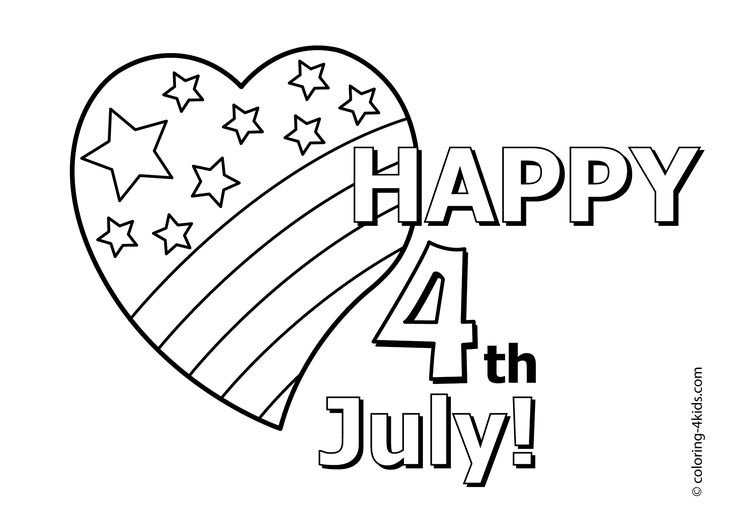 the 4th of july coloring pages heart usa independence day 4thofjuly - 4th Of July Coloring Pages
