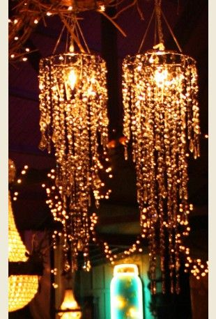 SILVER SPANGLE CHANDELIERS from MIRANda Lambert and Blake SHelton's wedding {junk gypsy co - http://gypsyville.com/ }