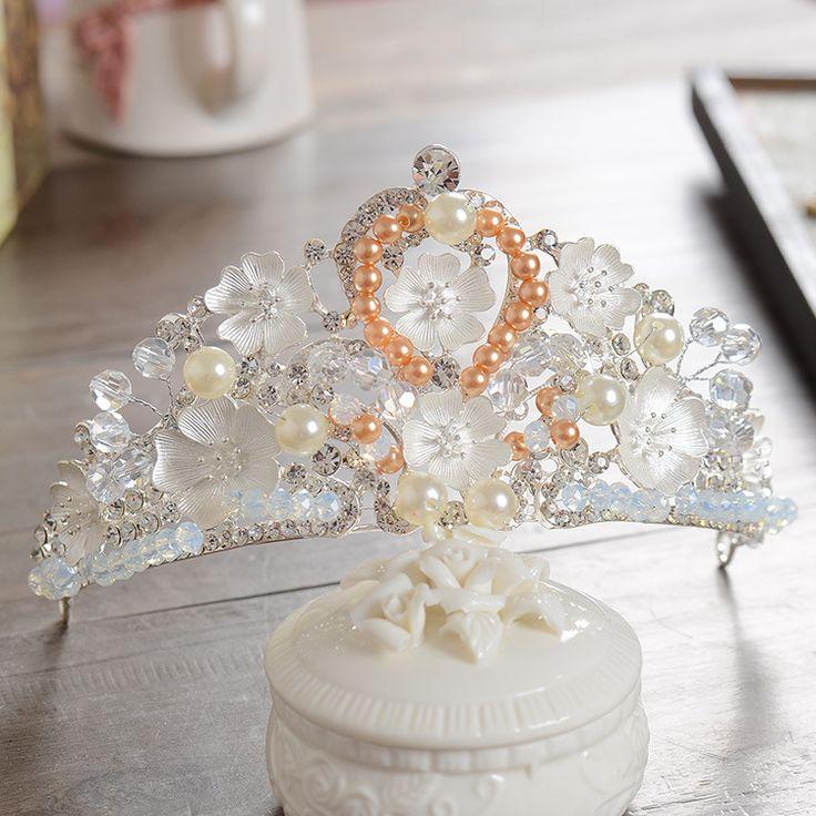 MANWIIKorean bride crown hair hoop small flowers crystal bride headdress retro wedding jewelry studio jewelryAQ2522 #Affiliate