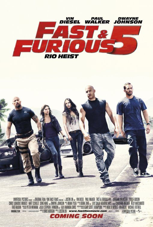 Fast Five!  Love, loved this movie.  So far my favorite compared to the others.
