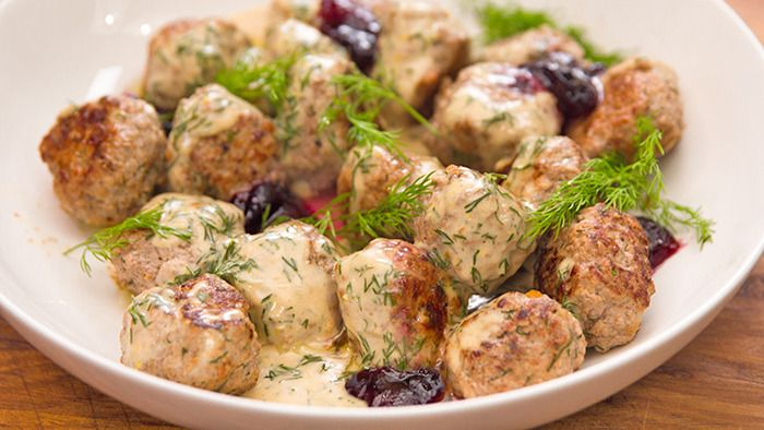 Swedish Meatballs with Cranberry Jam