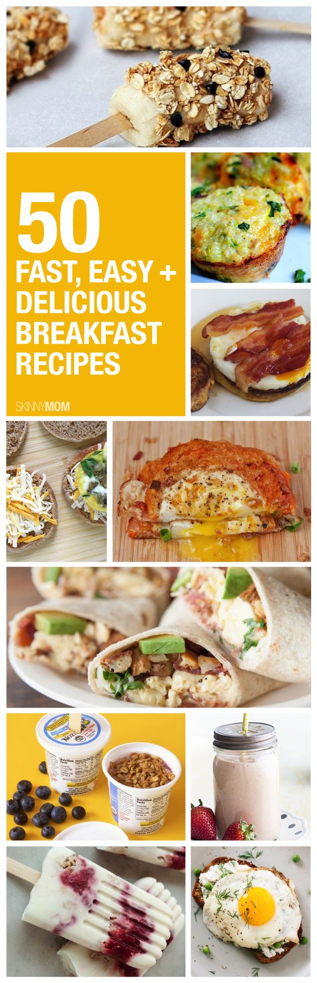 We've compiled 50 healthy breakfast recipes to make your mornings that much easier!