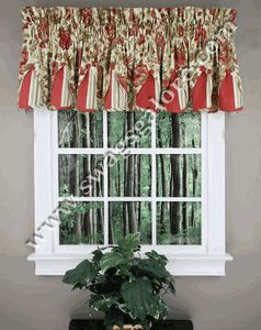 Peek-A-Boo Valance, by Waverly is a lovely valance, Valance has a signature Waverly pattern, featuring a large scale floral pattern accented with a coordinating striped fabric, valance is fully lined. Fabric is 100% Cotton. #Waverly #Valance
