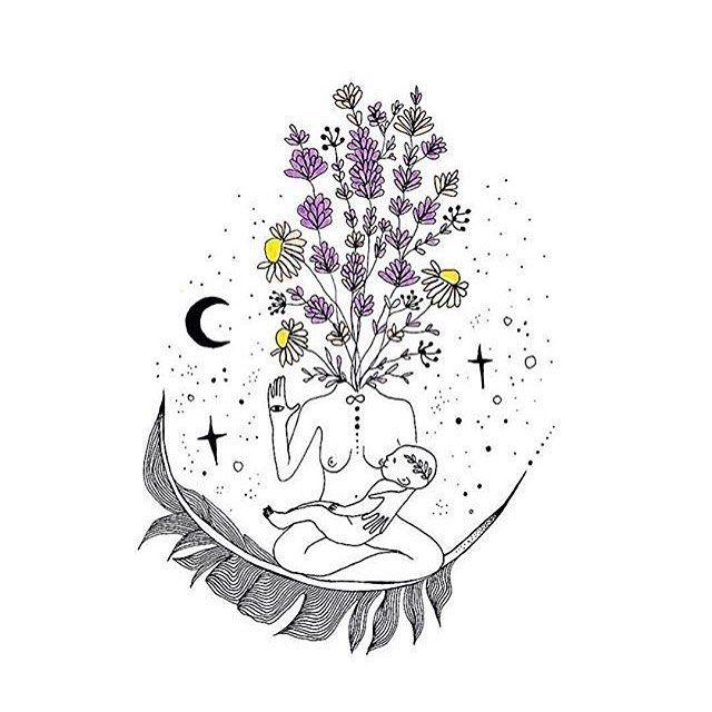 Beautiful nourishing illustration by @merakilabbe — custom design for @auna.moonchild ✨ #bosomnectar #merakilabbe