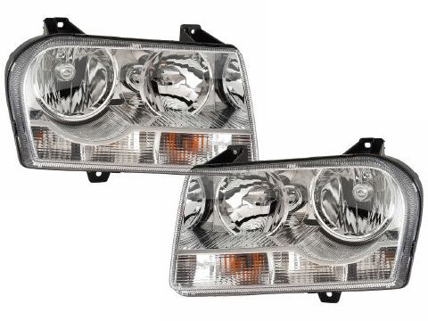 2005-2009 Chrysler 300 V6 Straight Bottom Headlights Set New: 2005-2009 Chrysler 300 V6 Straight Bottom… #CarHeadlights #AutoHeadlights