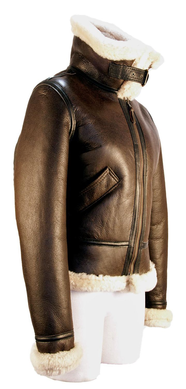 The Women's B3 Bomber Jacket.  100% Sheepskin and American Made.  A girls best…