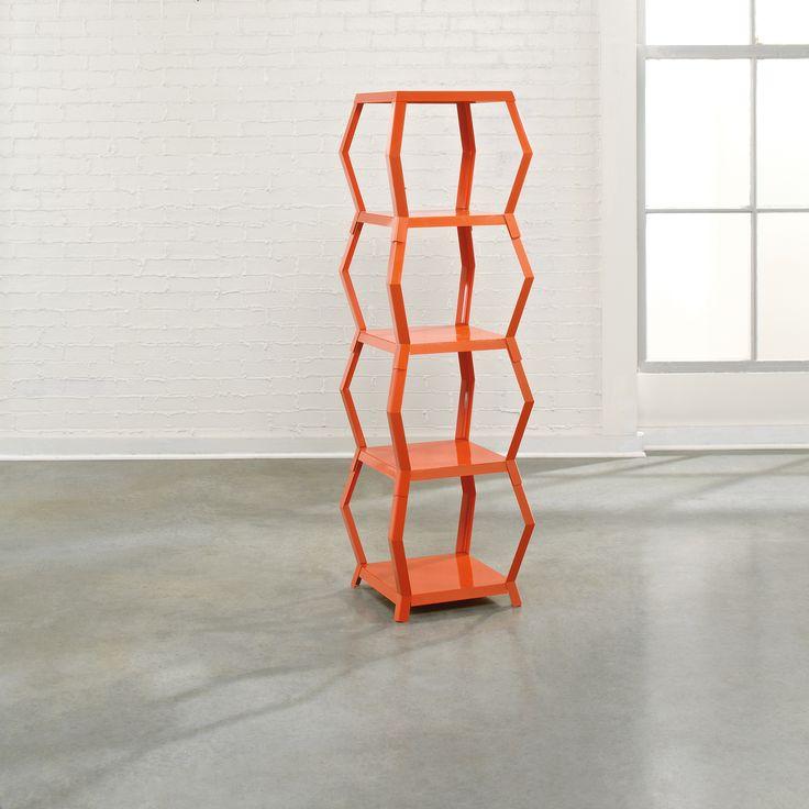 Tower Etagere. Orange BlushModern BookcaseMetal ... - 273 Best Home: Shelves: Bookcases, Cabinets Images On Pinterest