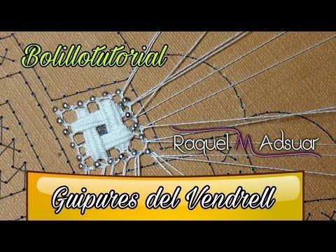 Cambiar hilo en el par guía - Encaje de bolillos - Raquel M. Adsuar - YouTube