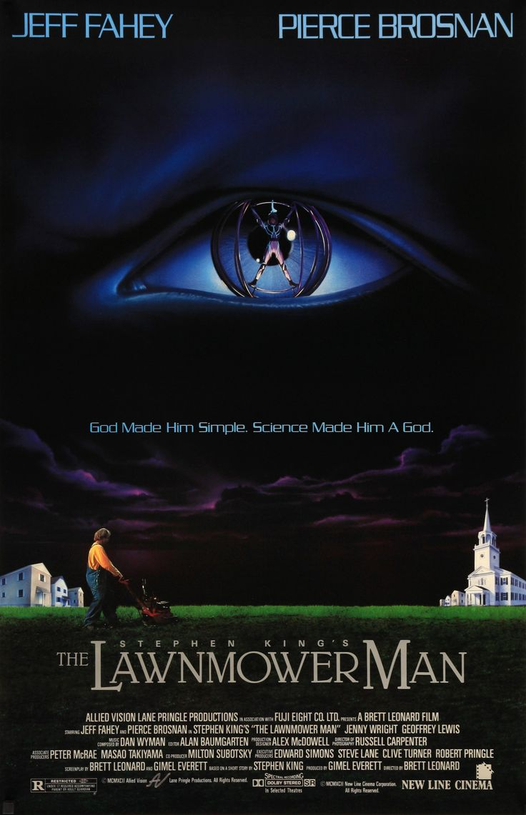 "The Lawnmower Man (1992) Vintage One-Sheet Movie Poster - 27"" x 41"""