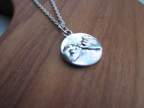 Pinky Promise necklace silver necklace friendship by LondonGem