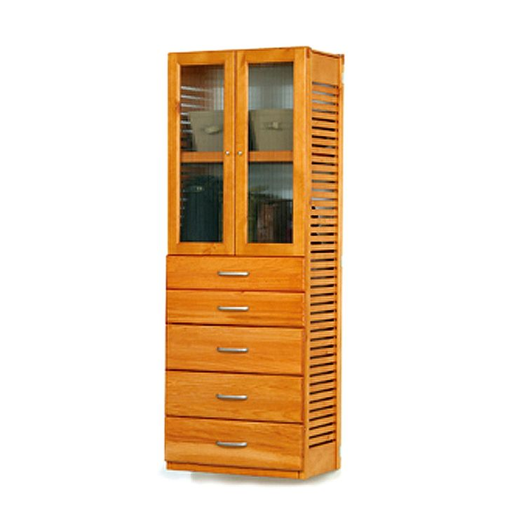 john louise honey maple doors and 5drawers standalone tower 16in stand alone towerdoor5 maple brown