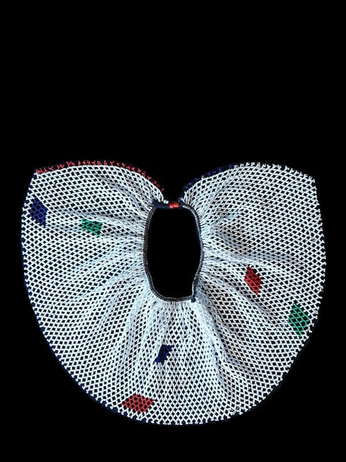 Africa | Beaded collar necklace from the Zulu peoples of South Africa. | Imported glass beads and fiber | ca. 1970.