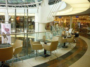 Schadow Arkaden Shopping Mall in Düsseldorf #ShoppingMall #RestauratFurniture #ContractFurniture #BdsContract