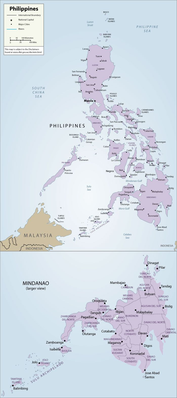Map of Philippines This map is