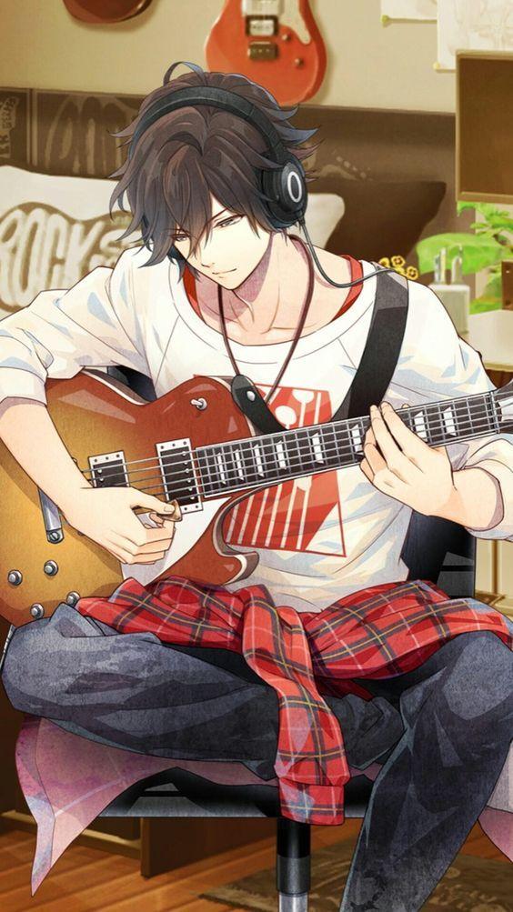 Anime Guy   Guitar   Headphones   Music   Epic Art   Cute anime guys, Anime, Cool anime guys