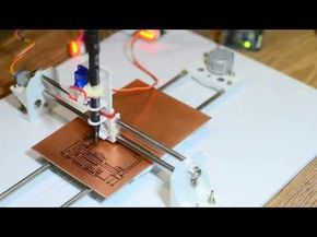 How to make Mini CNC plotter machine at home using Arduino, L293d Motor shield & old DVD drive - YouTube