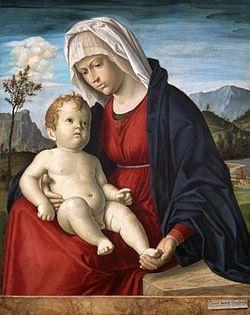 Madonna col Bambino, (1500), olio su tavola, National Museum of Wales, (Cardiff)