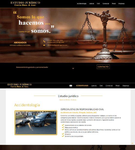 Estudio Jurídico.  Sitio armado con html5 y css3.