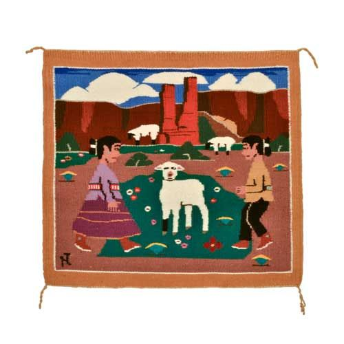 Navajo Pictorial Rug By Jane Hyden