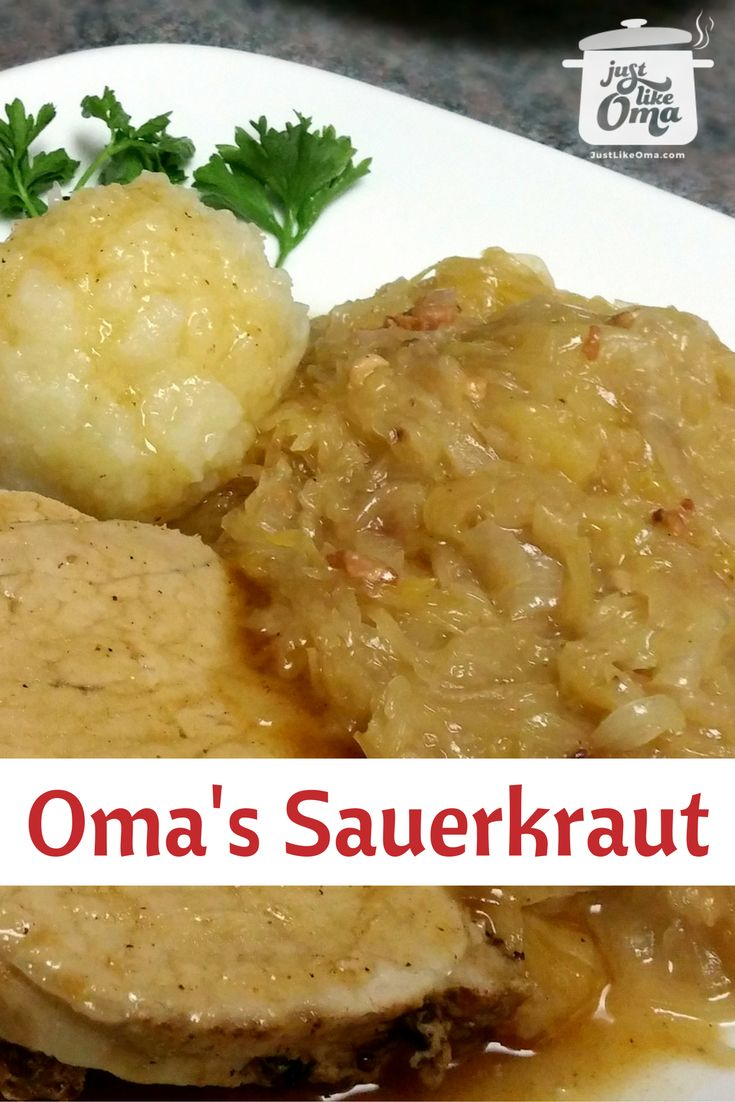 Delicious traditional German Sauerkraut, http://www.quick-german-recipes.com/recipe-for-sauerkraut.html, done the German way!