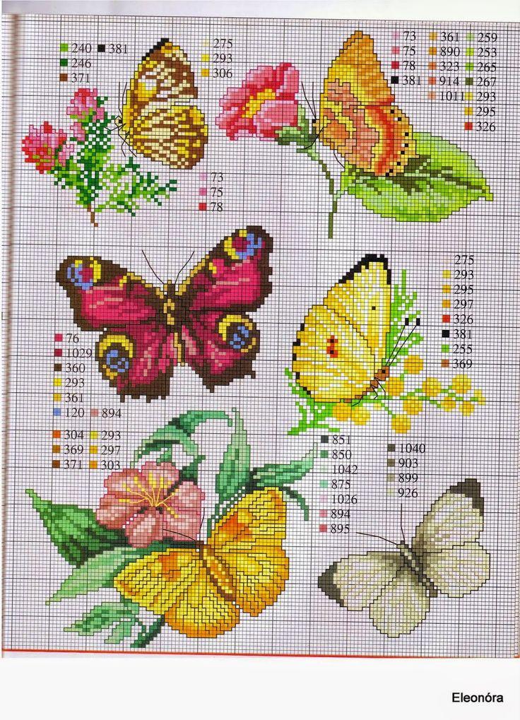Oltre 25 fantastiche idee su ricamo farfalle su pinterest for Farfalle punto a croce