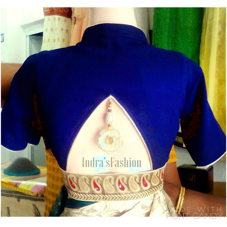 Collared blouse with triangular cutout back