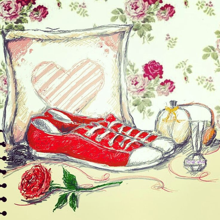 Red sneaker for my dear petite chairmate