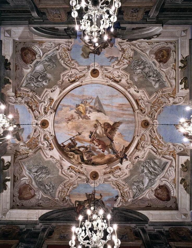 Ceiling decoration. Tiepolo. 1743-1750. Fresco. Palazzo Labia. Venice.