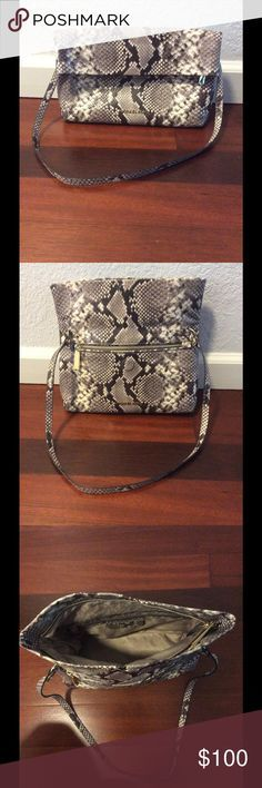 MC snake pattern genuine leather purse In very good condition, nothing wrong. Nice design. Light. KORS Michael Kors Bags Satchels