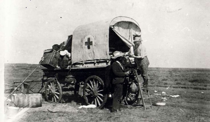 So het 'n Boere Ambulans gedurende die Anglo-Boere Oorlog daar uitgesien…