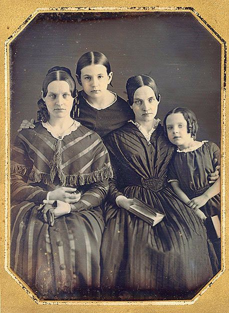 Mother and daughters.  Probably 1840s. D06-183. Philadelphia School.