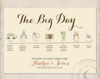 Wedding Itinerary Cards Wedding Timeline Weddings Wedding