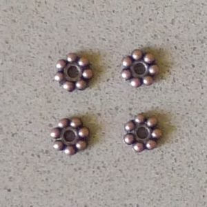 Flower Spacer, Copper, 5mm, 500pc