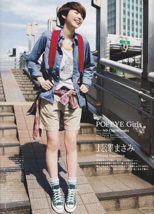 sola-nin: 長澤まさみ for POPEYE, June 2011