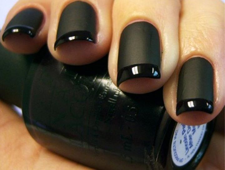 Adorable Beautiful And Stylish Black Matte Nails Inspiration For Ladies Click The Picture To See More: Mattenails, Matte Nails, Nails Art, French Manicures, Matte Black Nails, Beautiful, French Tips, Nails Polish, Matteblack