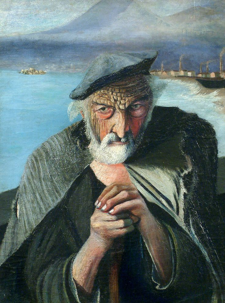 Old Fisherman (1902) - Csontváry Kosztka, Tivadar. See mysterious If you place a mirror directly in the middle of this.
