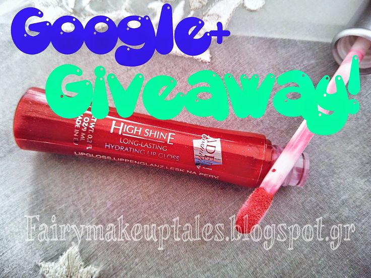 Fairy make-up tales . . . . : Win a Sparkling Red Lipgloss in a Google+ Giveaway!