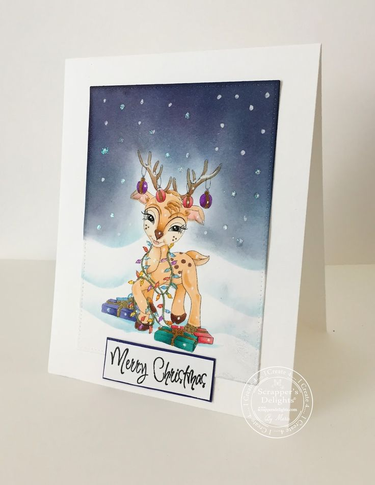 My latest DT project for Scrappers Delights new release #deer #copicmarkers #theunexpectedcrafter #christmas #snow #scrappersdelights www.theunexpectedcrafter.blogspot.com.