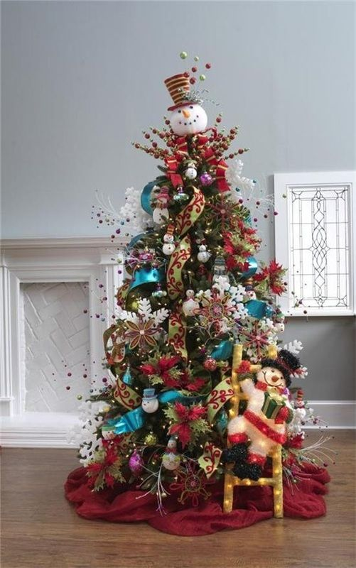 Holiday Decor -- Snowman Christmas Tree