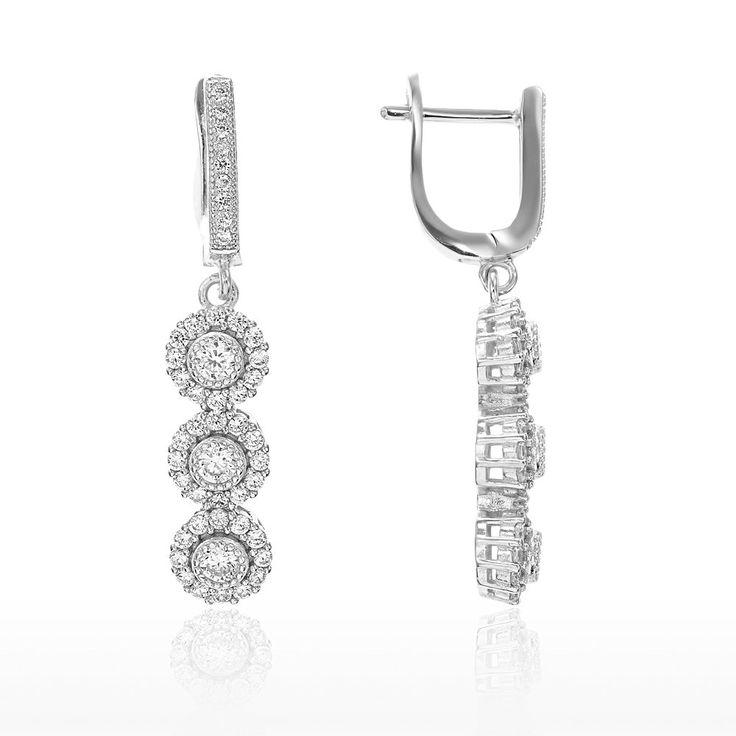 Cercei argint Latch Back Drop Earrings Zirconii Cod TRSE001 Check more at https://www.corelle.ro/produse/bijuterii/cercei-argint/cercei-argint-latch-back-drop-earrings-zirconii-cod-trse001/