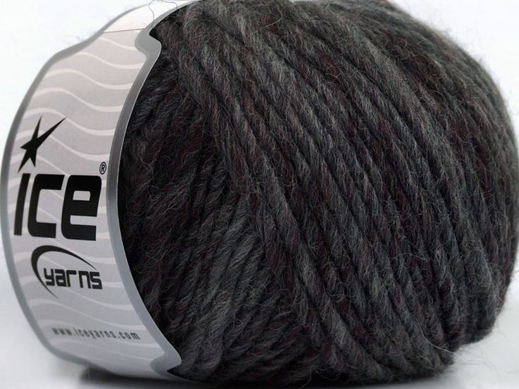 Mango Pure Wool Grey Shades Burgundy at Yarn Paradise