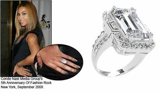 Beyonce's wedding ring is apparently the most expensive in the world at 5 million! Jay-Z Beyonce engagement ring