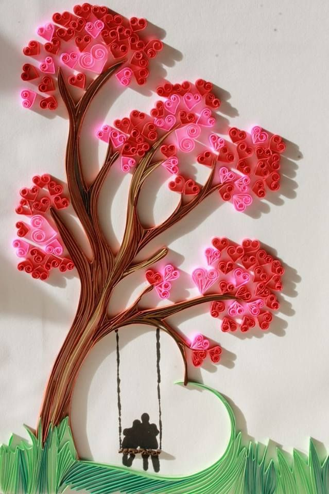 Love tree quilling