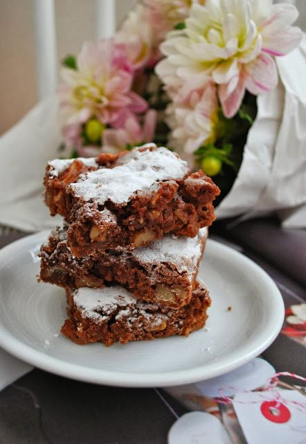 Apfelbrownies - Apple brownies with translation available