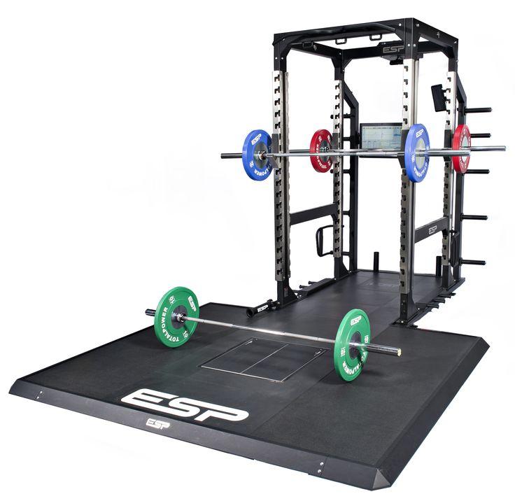 Power Rack Deadlift: ESP Fitness Combo Lifting Platform With ESP Power Rack