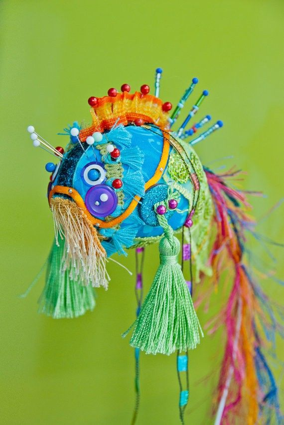 手工布金鱼...superbe poisson asiatique