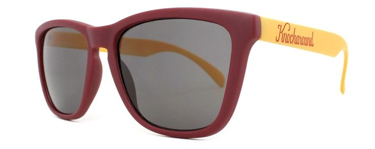 Maroon and Gold Knockaround Sunglasses